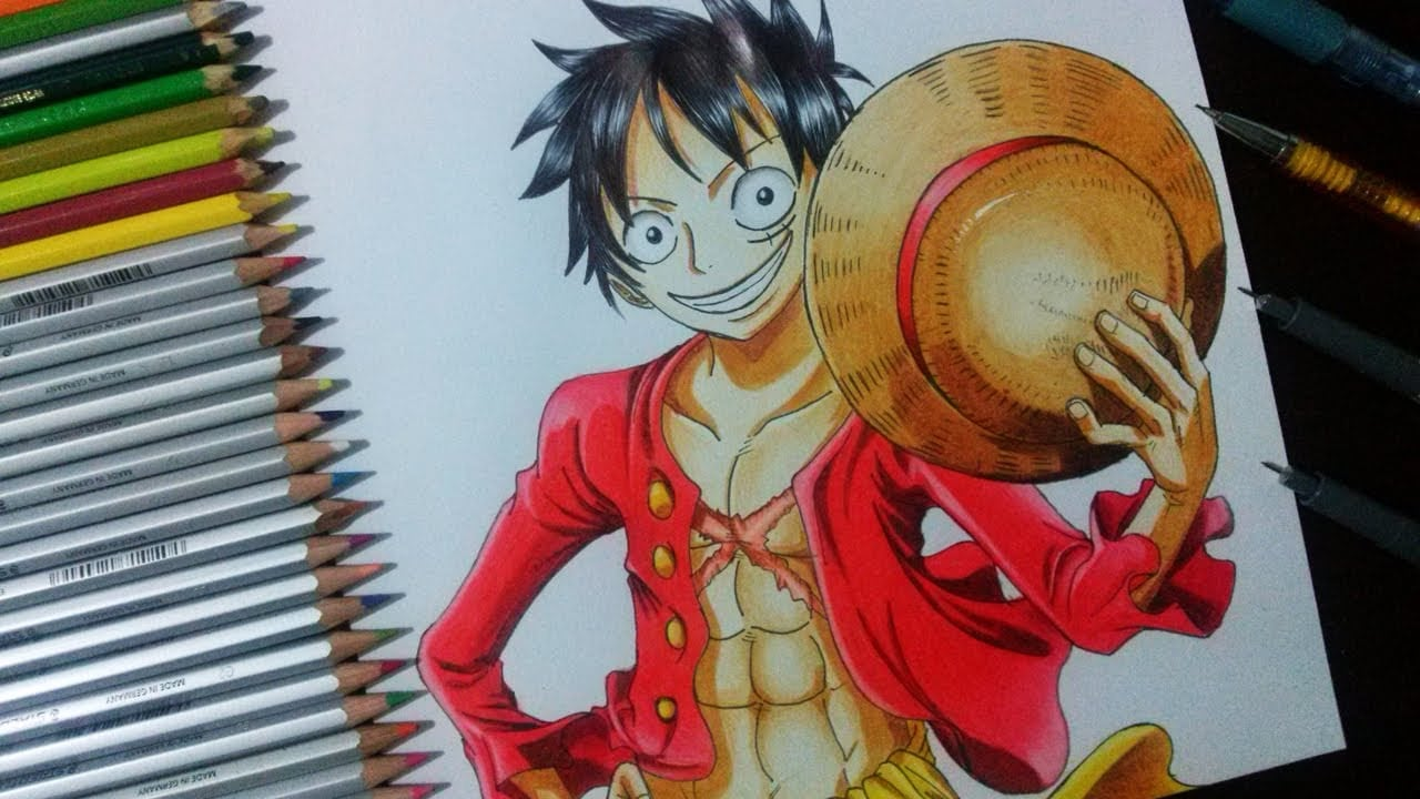 Como Desenhar E Colorir Monkey D  Luffy