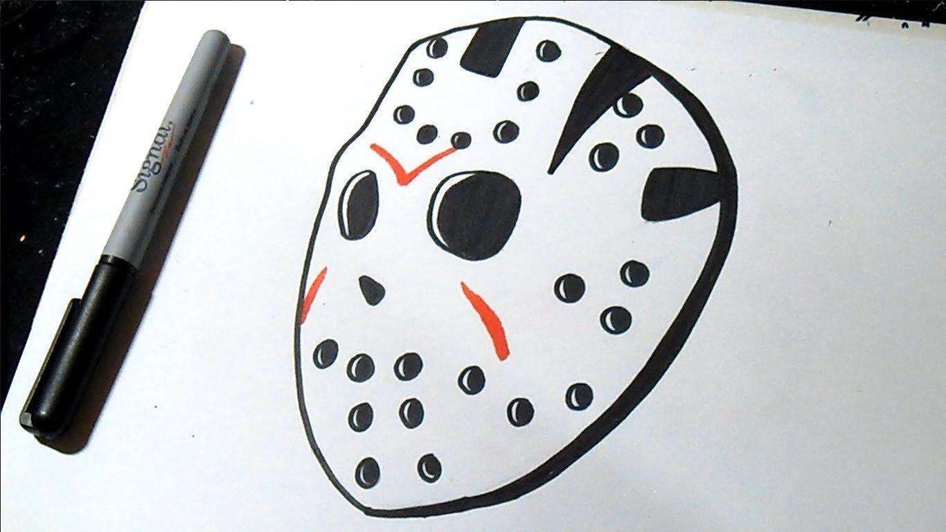 Como Desenhar Jason Máscara Grafite