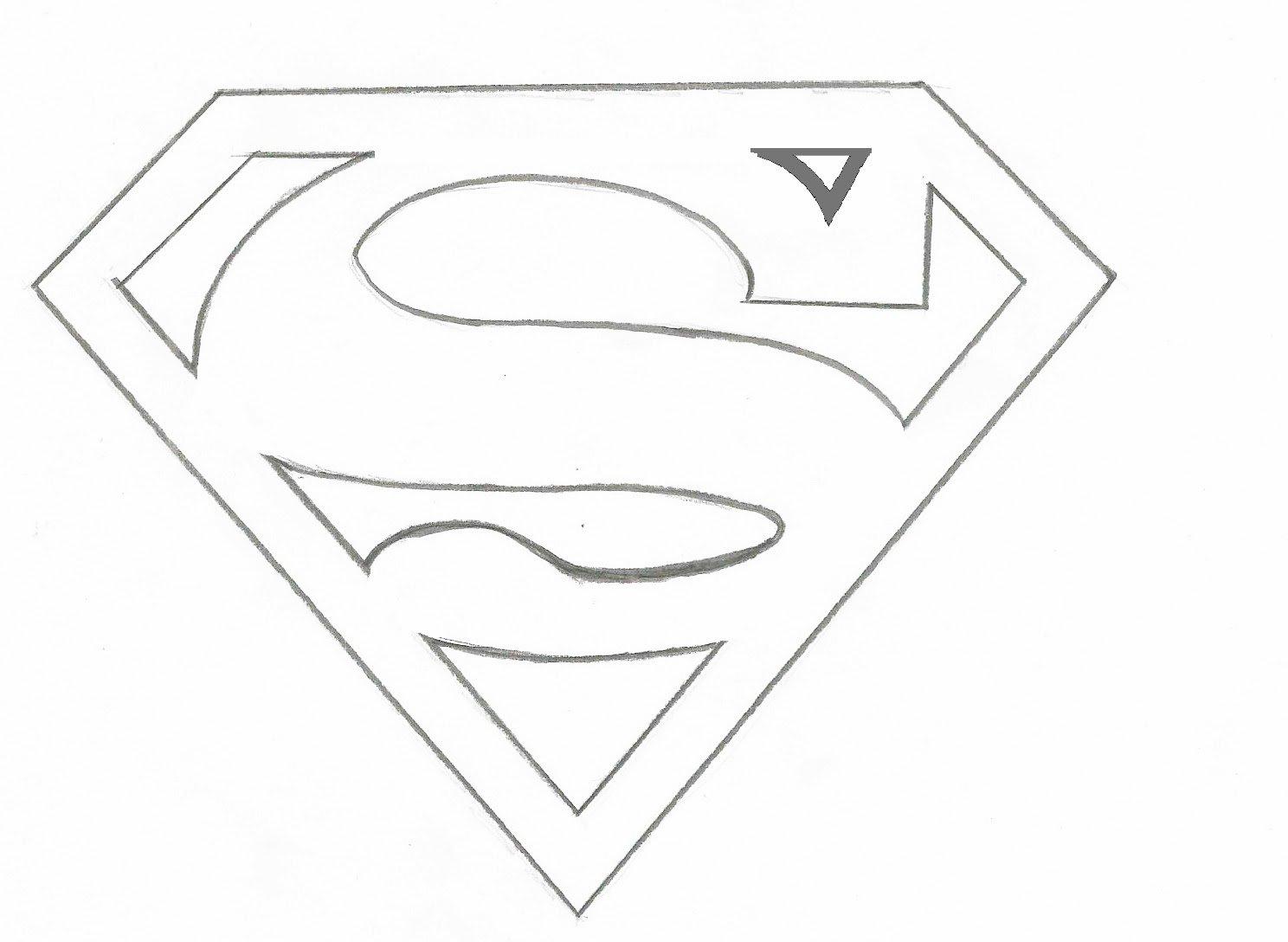 Atractivo Superman Symbol Para Colorear Modelo - Enmarcado Para ...