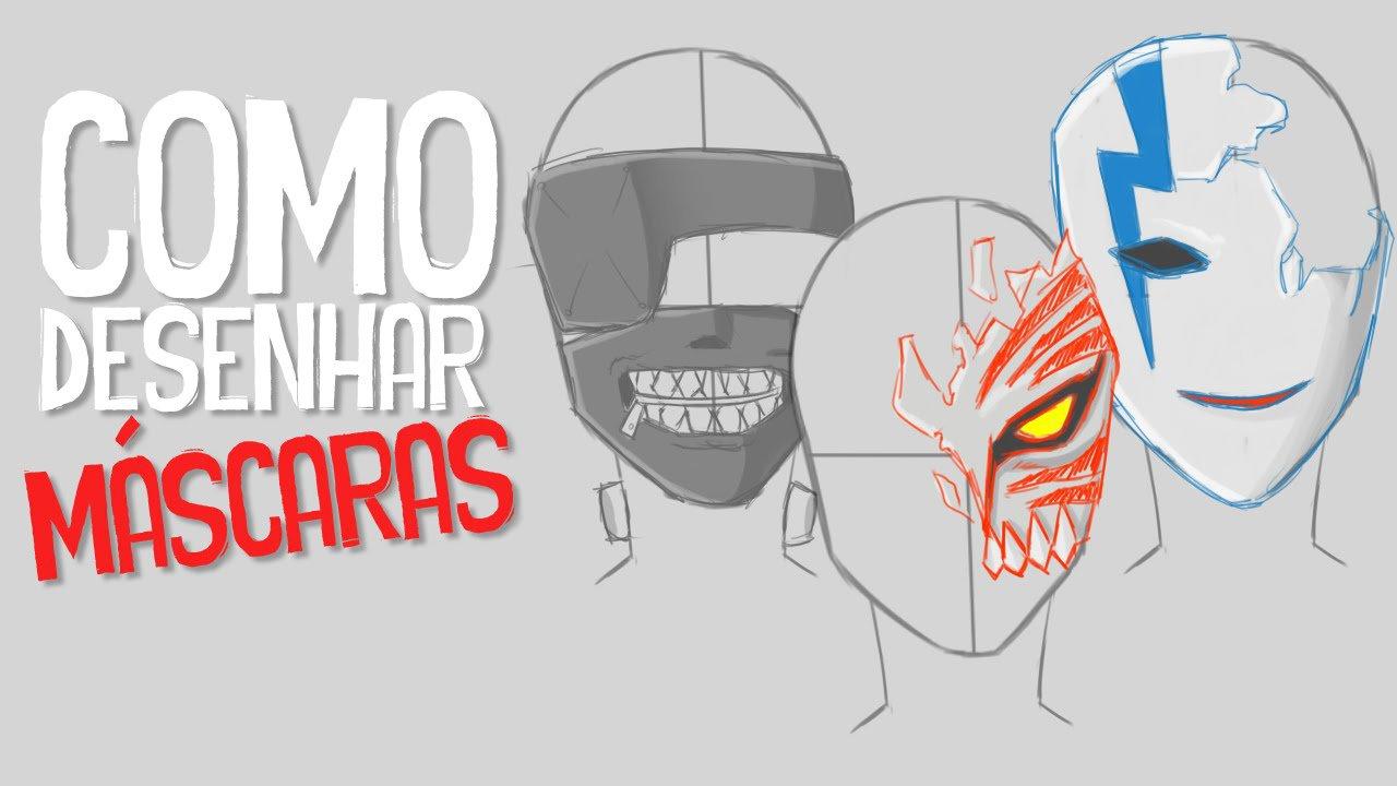 Como Desenhar Máscaras ! (ichigo,hei,kaneki)