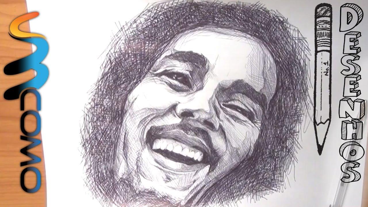 Como Desenhar O Bob Marley