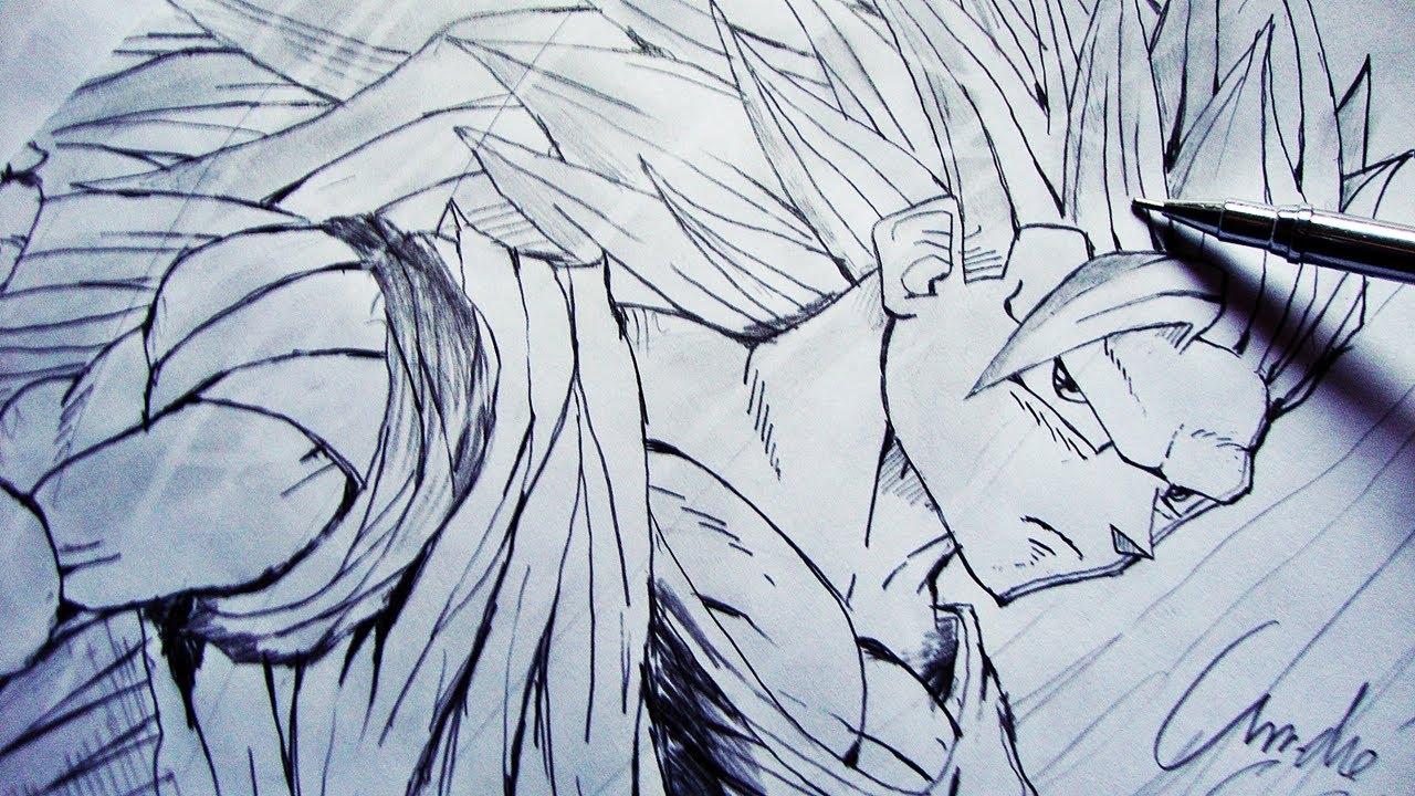 Como Desenhar O Goku Ssj3 [dragon Ball Z]