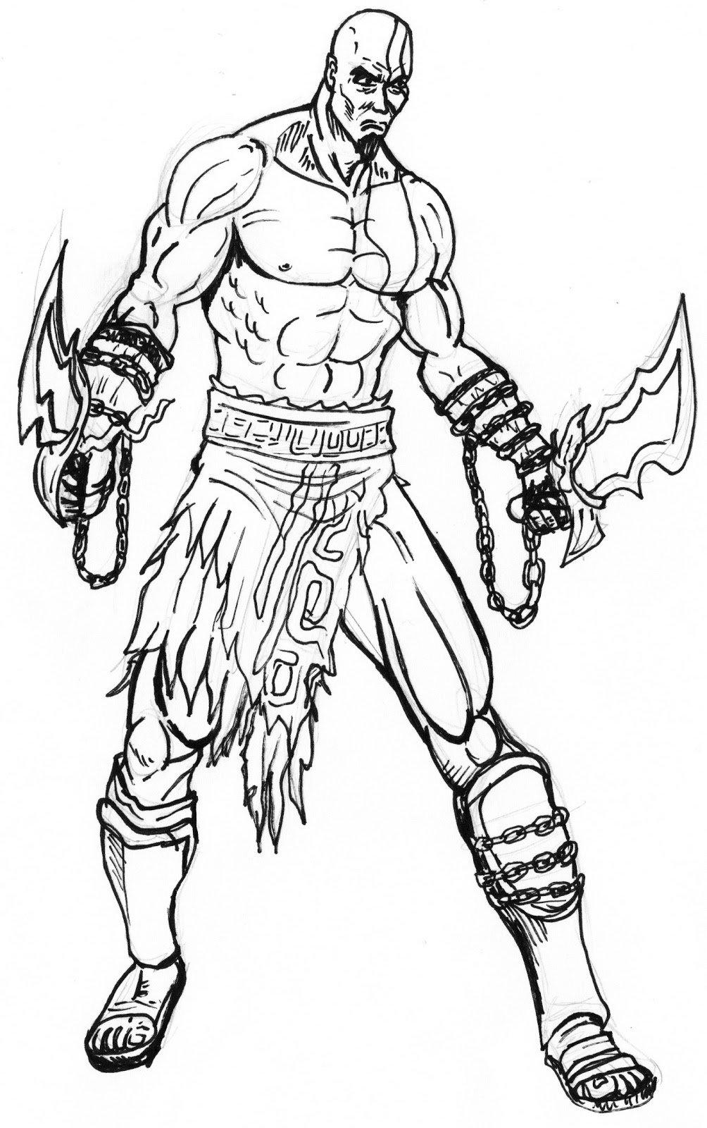 Como Desenhar O Kratos De God Of War
