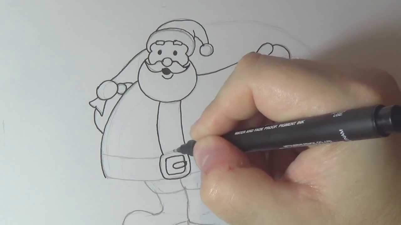 Como Desenhar O Papai Noel