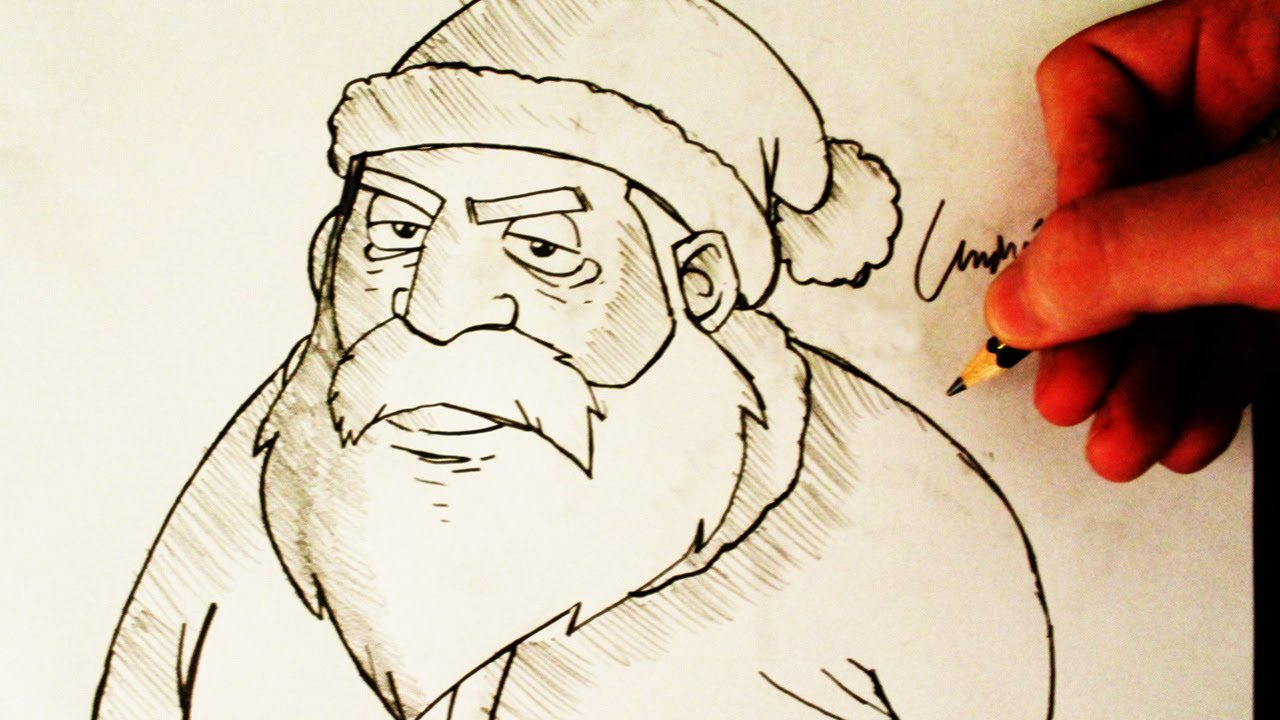 Como Desenhar O Papai Noel (how To Draw Santa Claus)