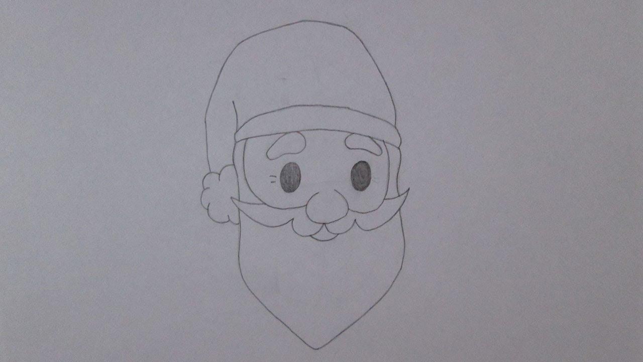 Como Desenhar O Rosto Do Papai Noel