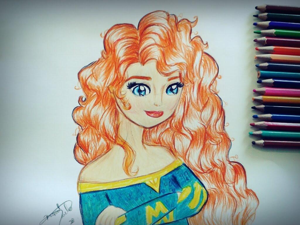 Como Desenhar Princesa Merida (valente Disney)