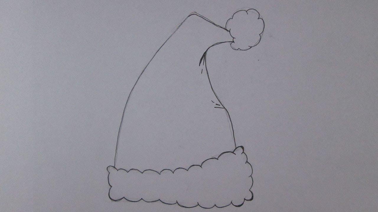 Gorro Do Papai Noel Para Colorir