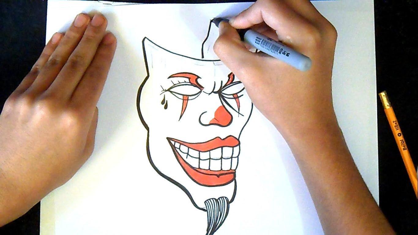 Como Desenhar Um Palhaço Máscara