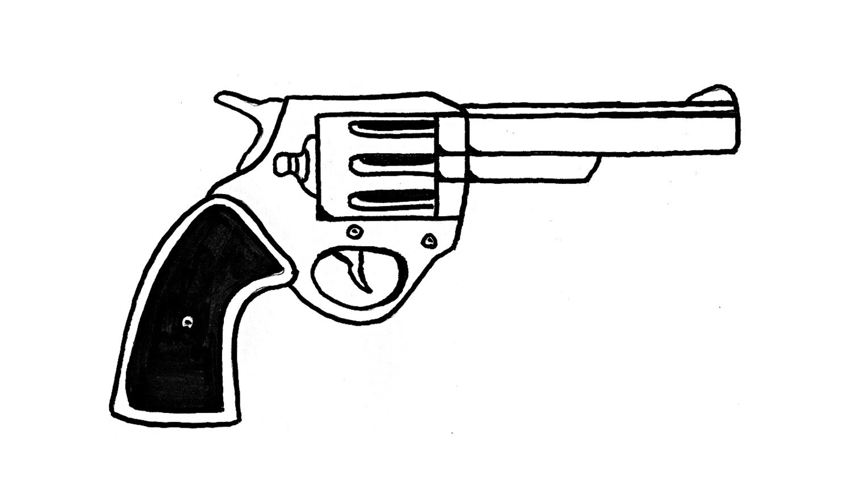 Como Desenhar Um Revólver Calibre 38 (arma, Pistola)