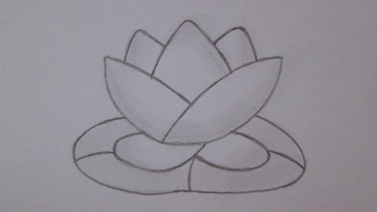 Como Desenhar Uma Flor De Lótus