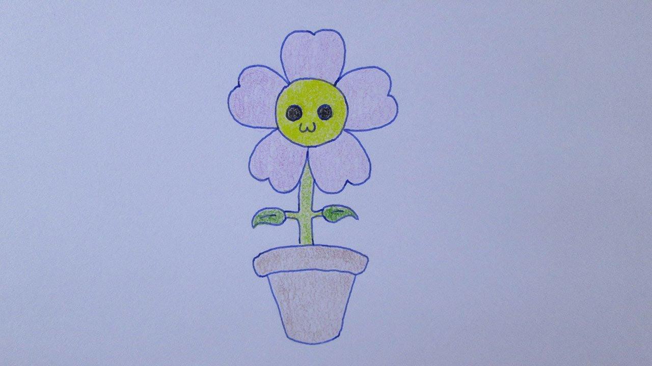 Como Desenhar Uma Flor Muito Fofa