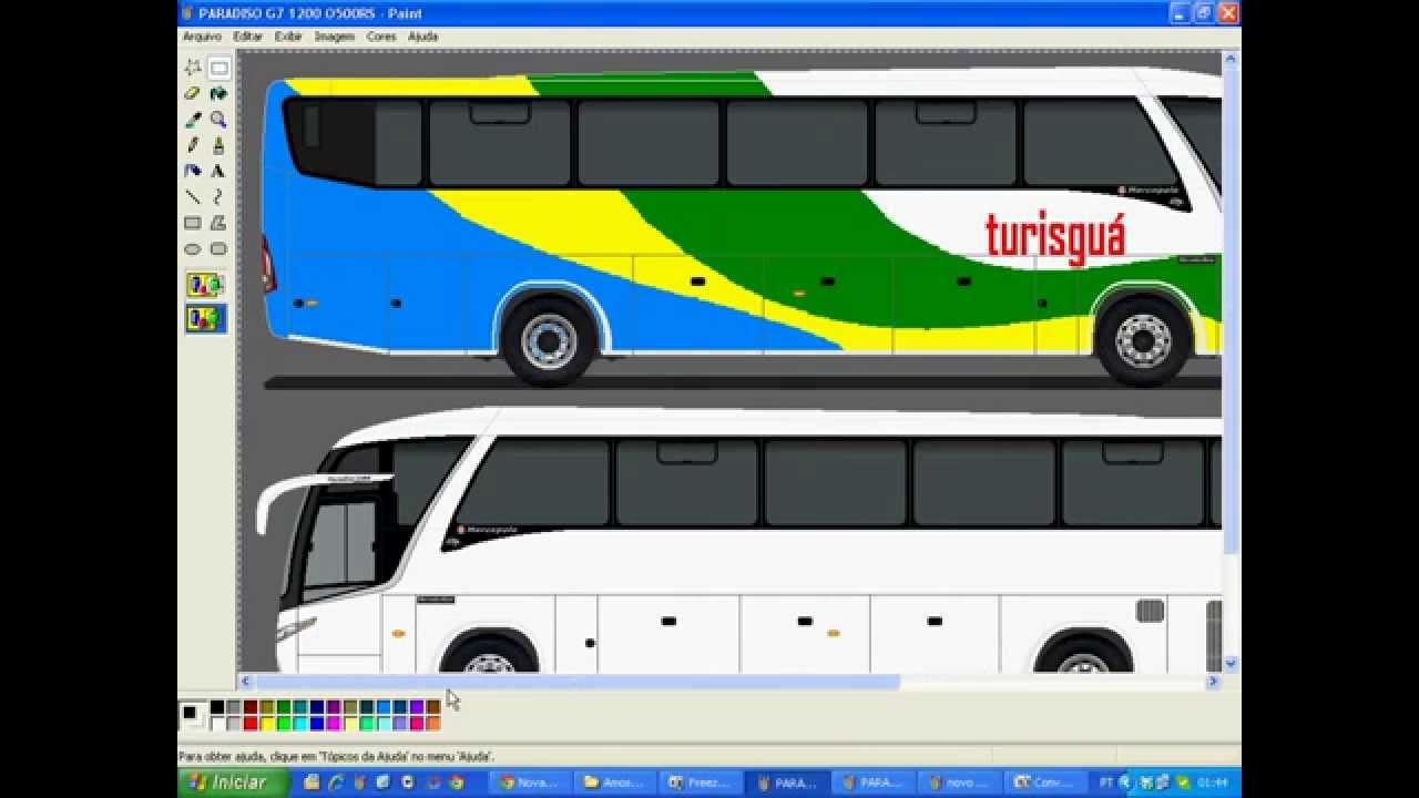 Como Pintar O Ônibus No Paint