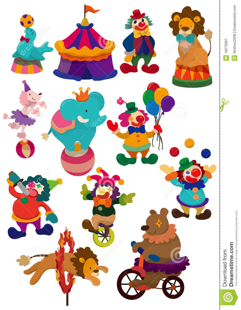 Ícone Do Circo Dos Desenhos Animados Fotografia De Stock Royalty