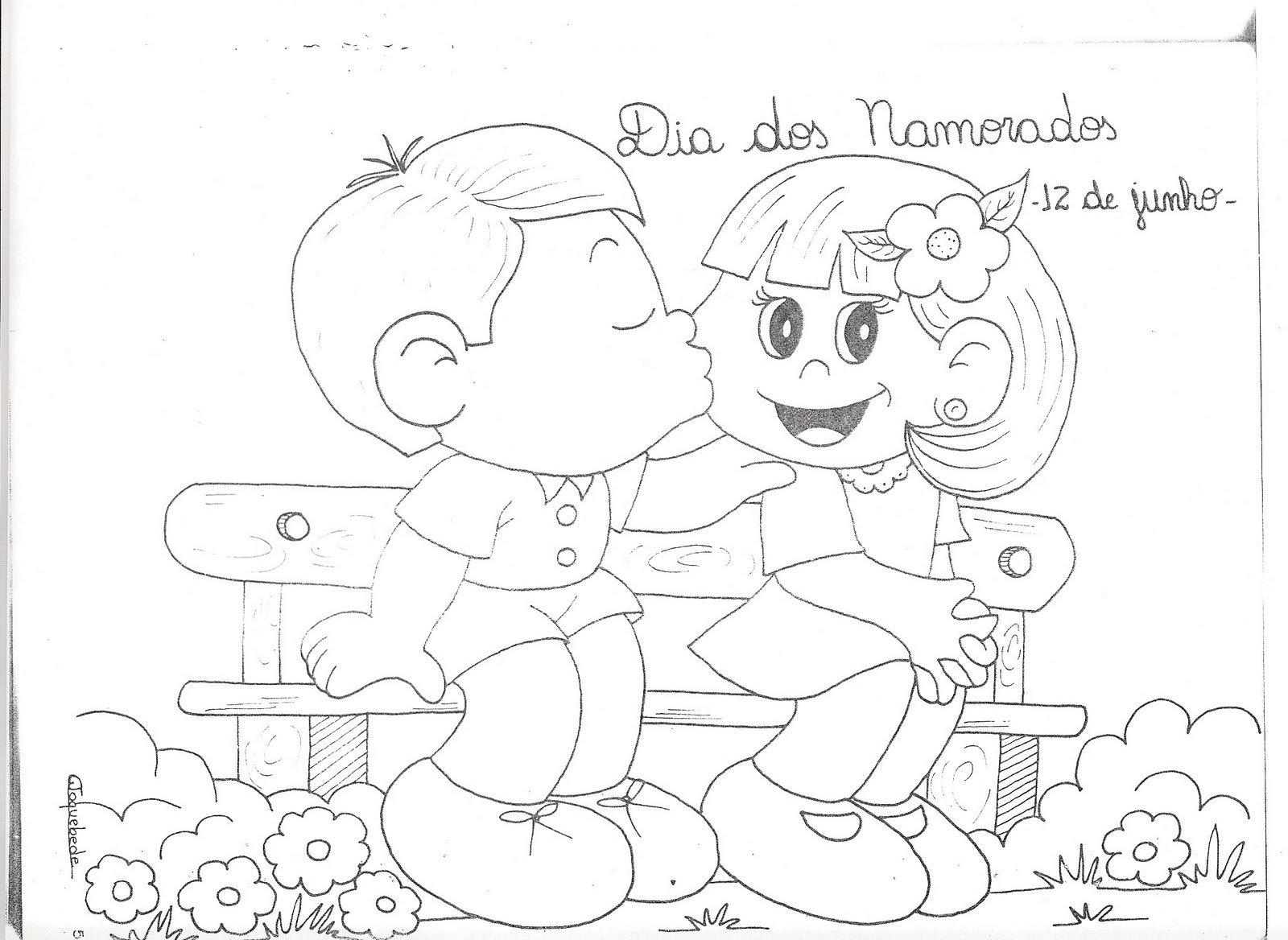 Confira Desenho De Dia Dos Namorados Para Colorir