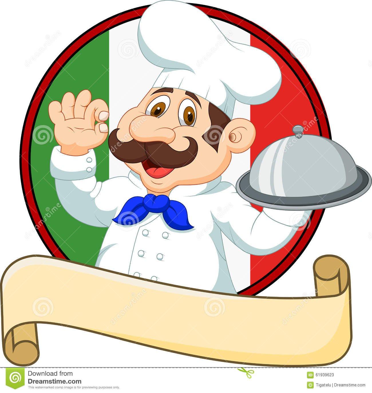Cozinheiro Chefe Engraçado Dos Desenhos Animados Com Um Bigode Que