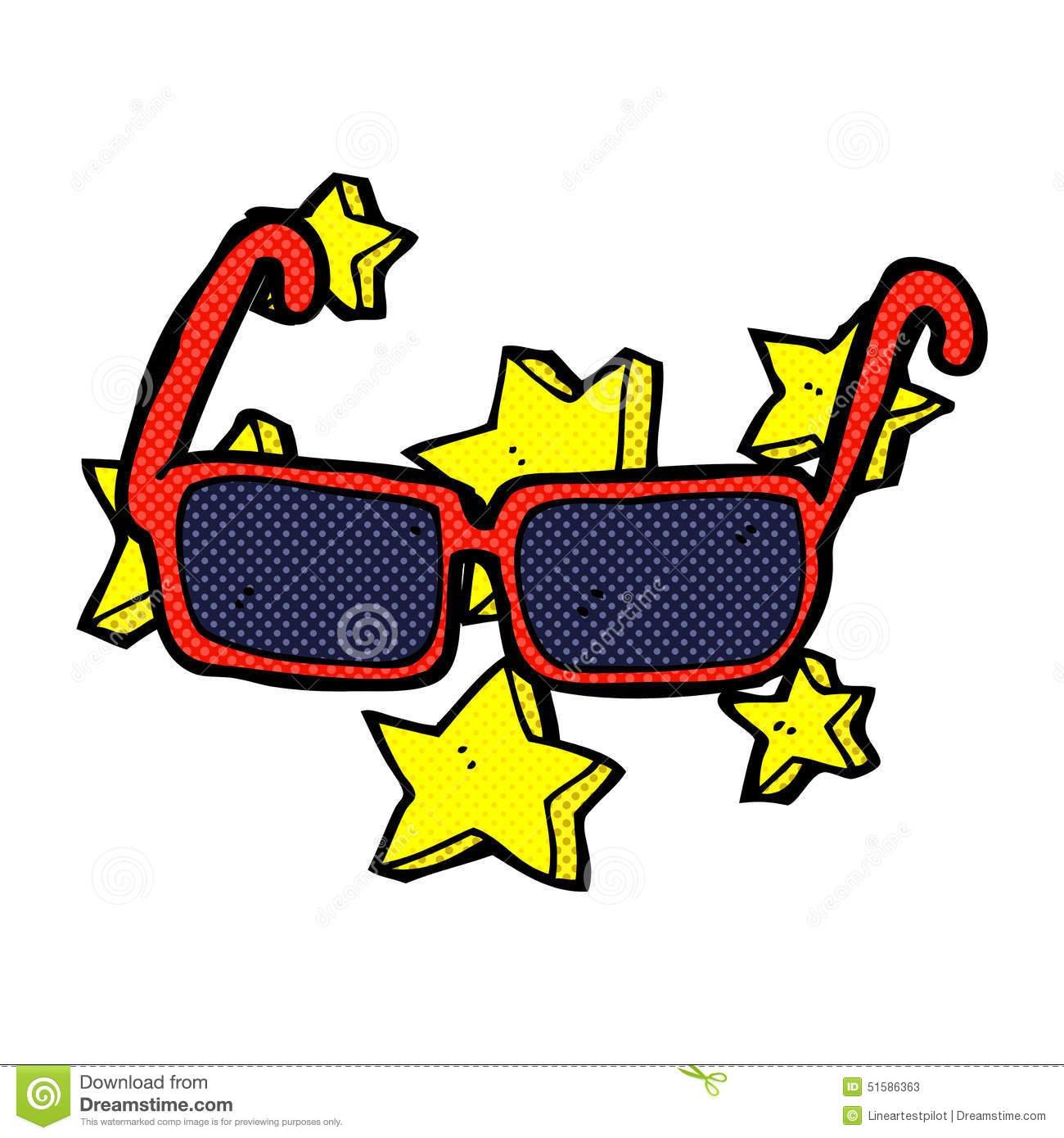 óculos De Sol Caros Dos Desenhos Animados Cômicos Ilustração Stock