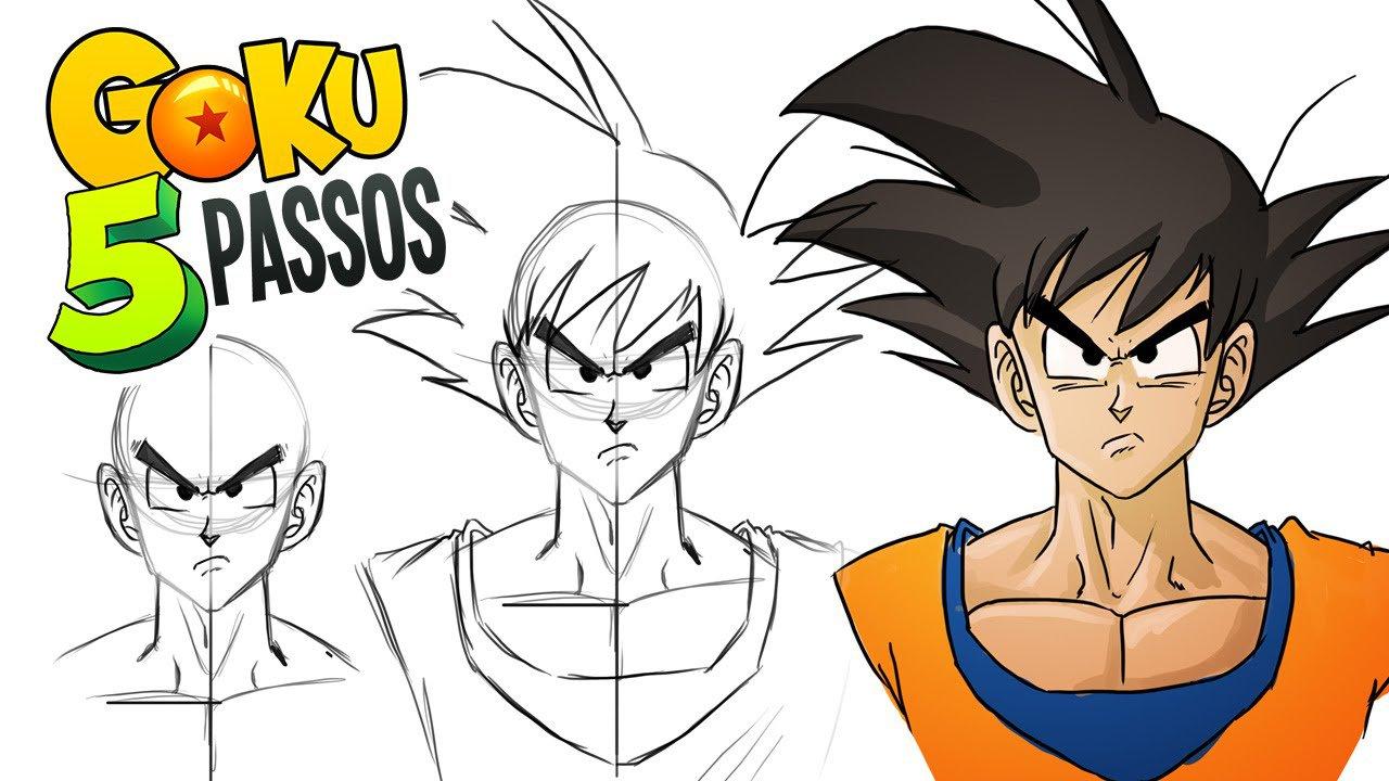 Desenhando Goku Em 5 Passos!