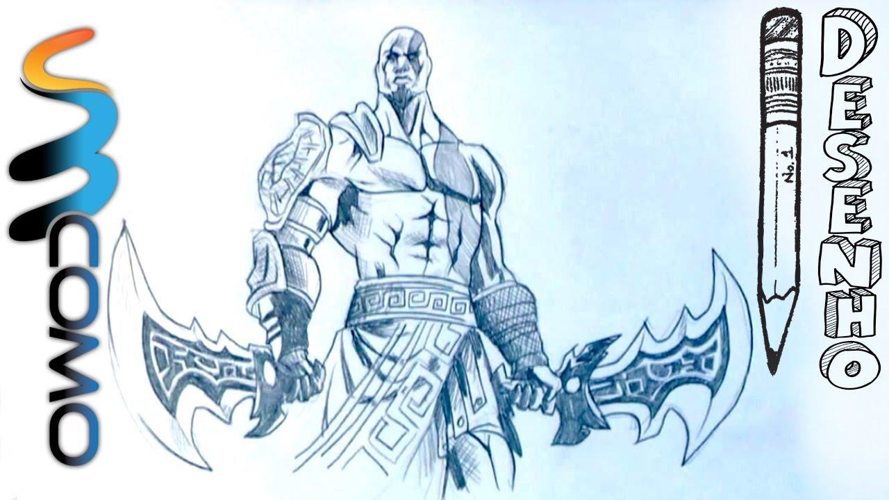 Desenhando Kratos Do Videogame God Of War