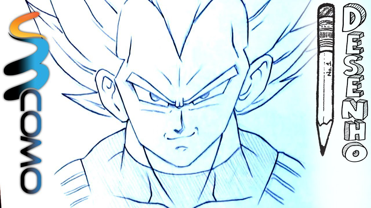 Desenhando Vegeta Super Guerreiro De Dragon Ball
