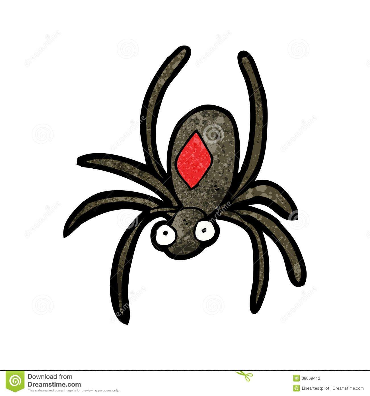 Desenho Da Aranha Da Viúva Negra Imagem De Stock