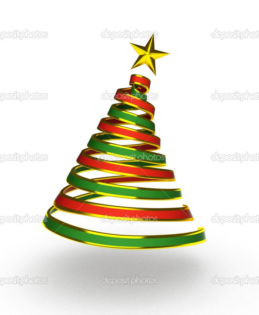 Desenho De árvore De Natal — Fotografias De Stock © Lenmdp  7601961