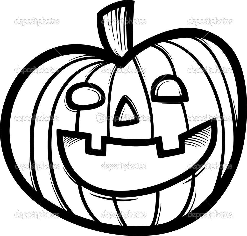 Desenho De Abóbora De Halloween Para Colorir — Vetores De Stock