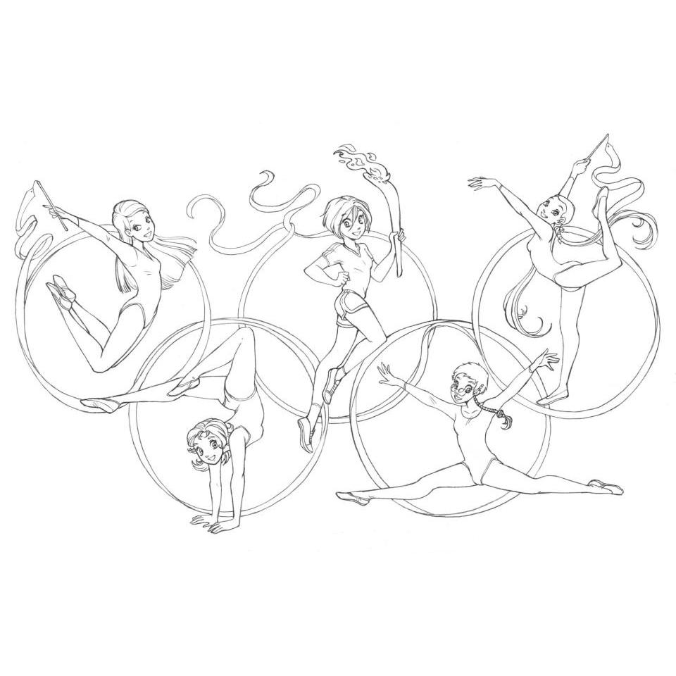 Desenho De Anéis Dos Jogos Olímpicos Para Colorir