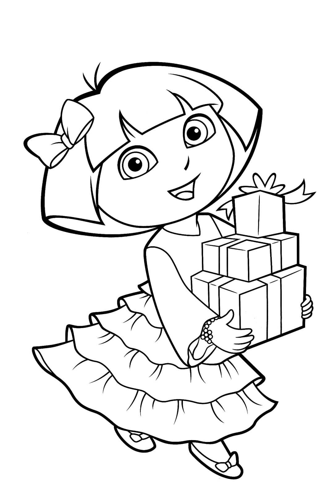 Desenho De Dora Aventureira Flamenca Para Colorir