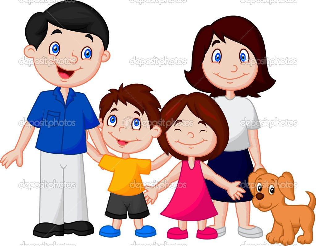 Desenho De Família Feliz — Vetores De Stock © Tigatelu  44735787