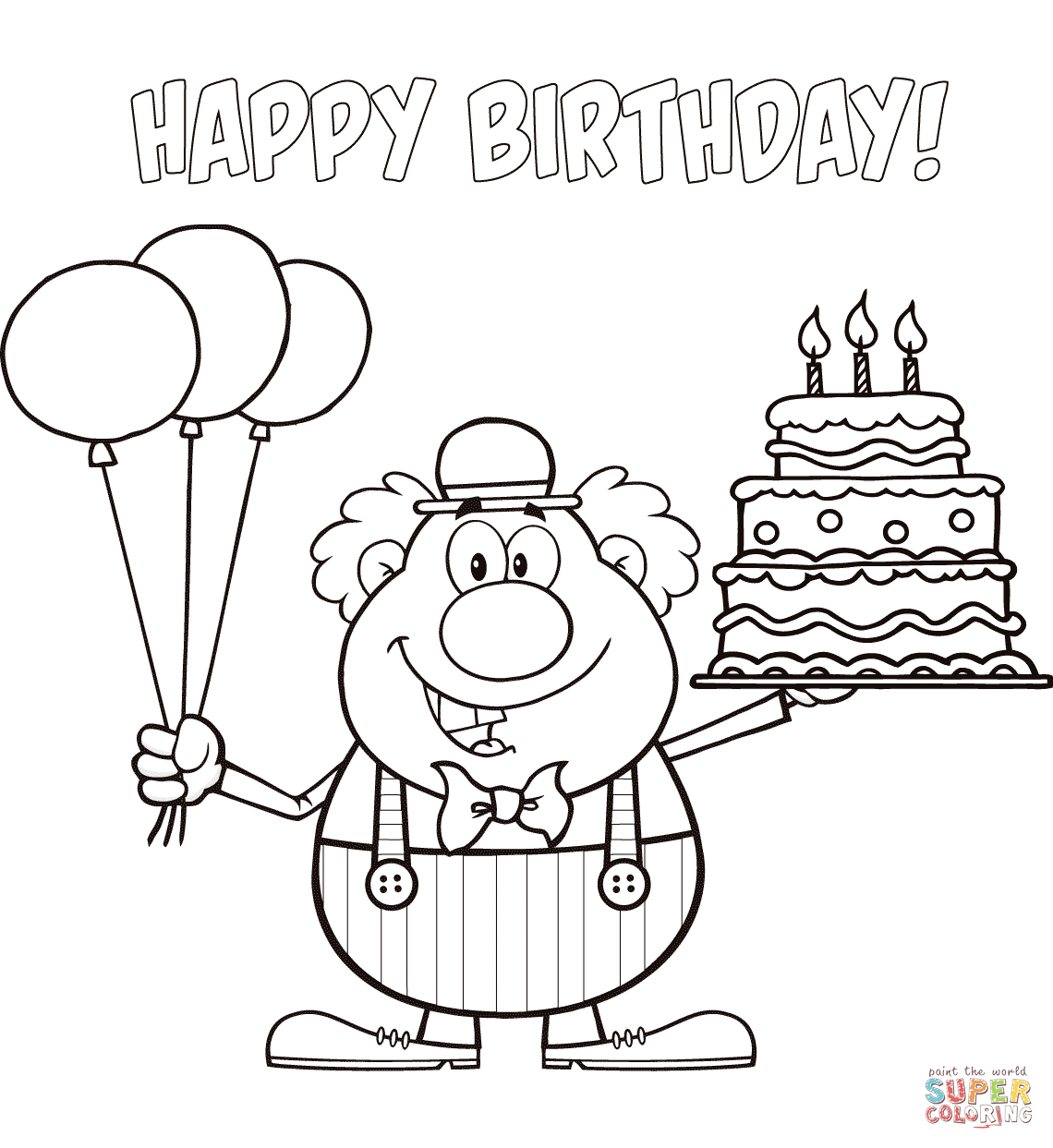 happy birthday auntie coloring pages - photo#25
