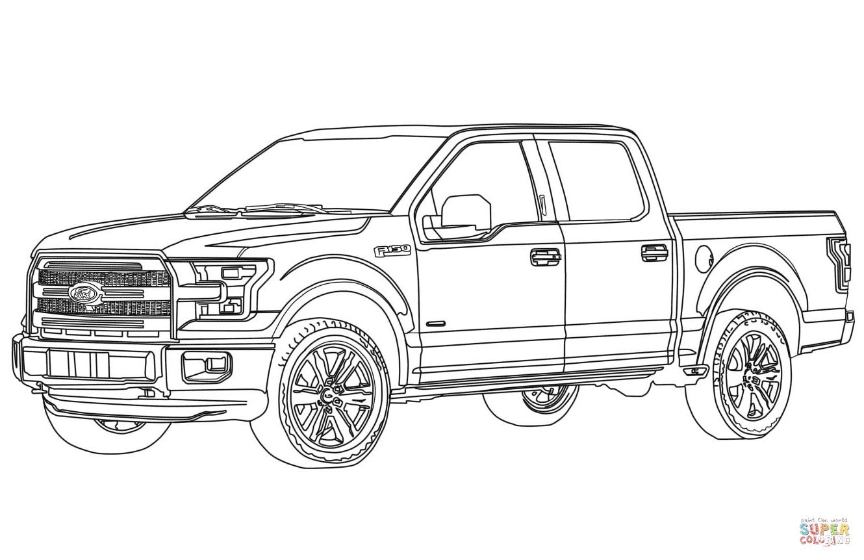 Desenho De Ford F150 Caminhonete Pickup Para Colorir