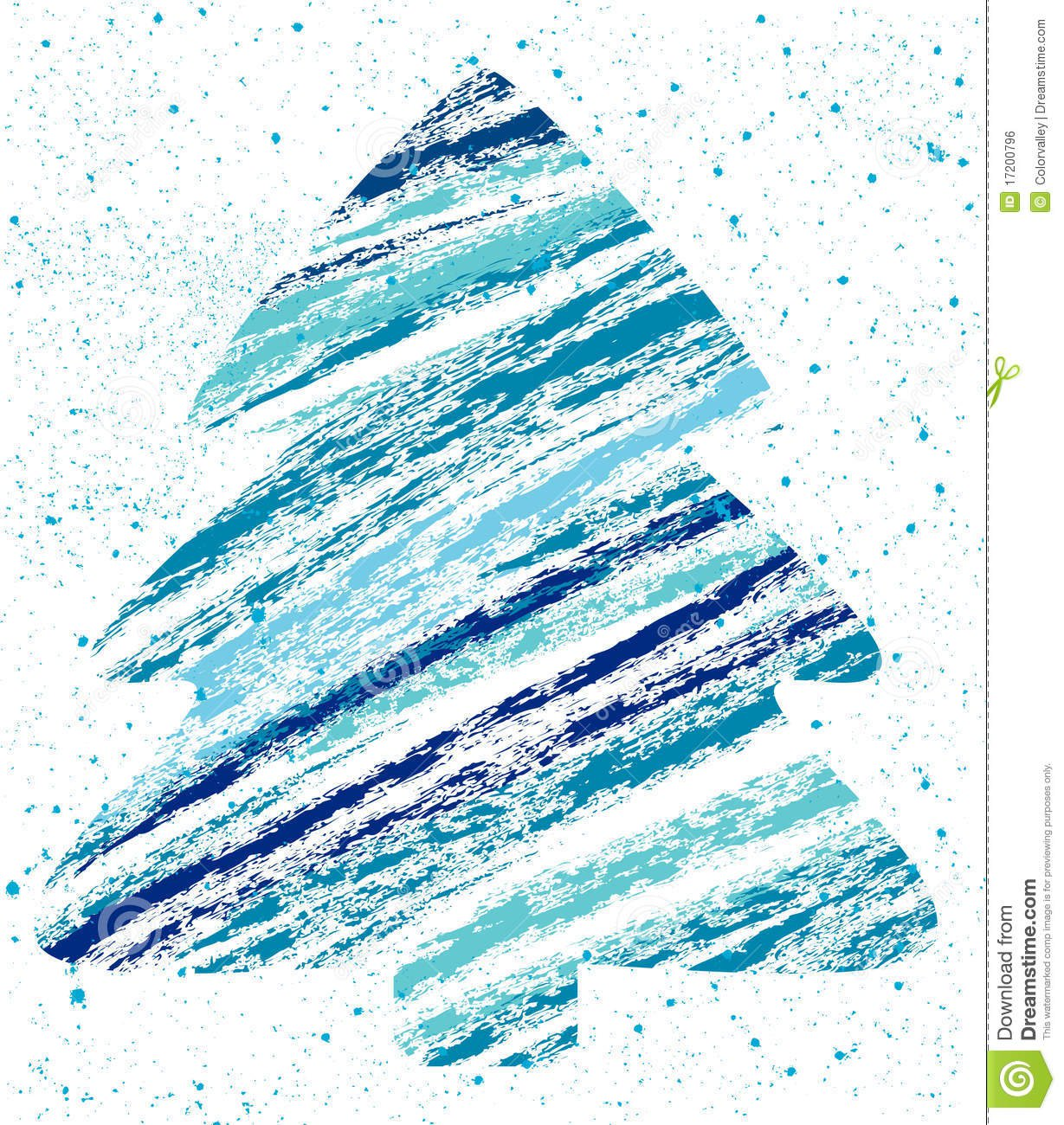 Desenho De Giz Abstrato Da árvore De Natal Imagem De Stock Royalty