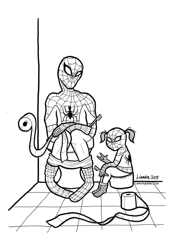 Desenho De Homem Aranha No Futuro Para Colorir