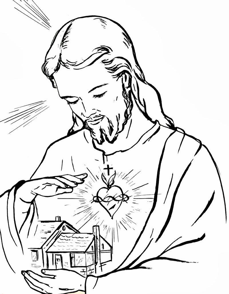 Desenho De Jesus Cristo Para Colorir