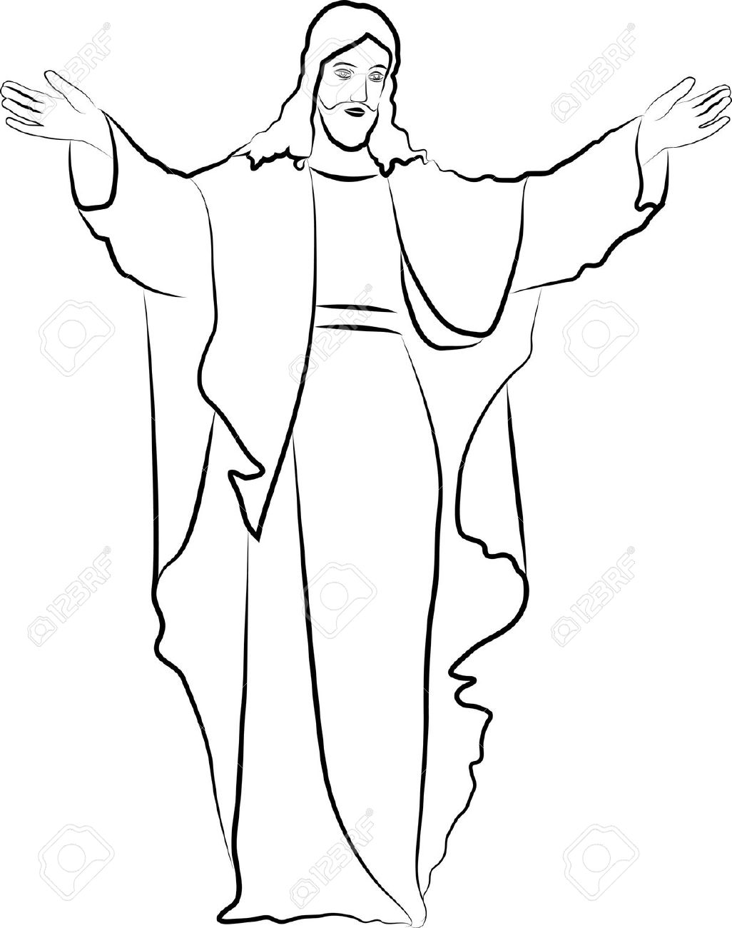 Line Drawing Jesus Christ : Desenho de jesus cristo