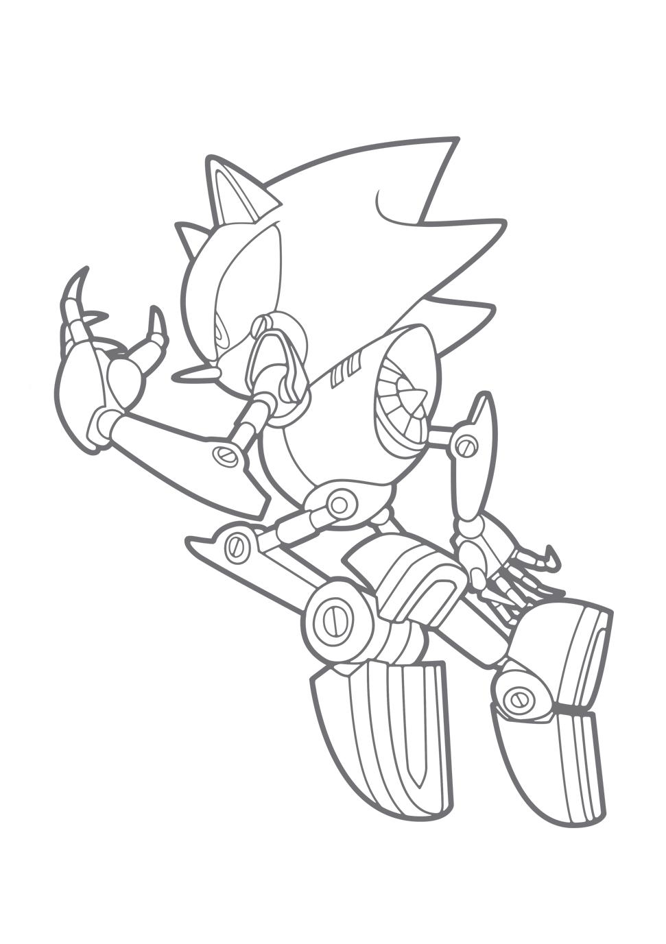 Desenho De Jogo Metal Sonic Para Colorir Free Coloring Pages