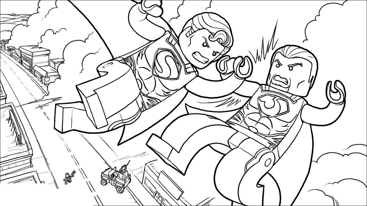 Desenho De Lego Superman O Filme Para Colorir