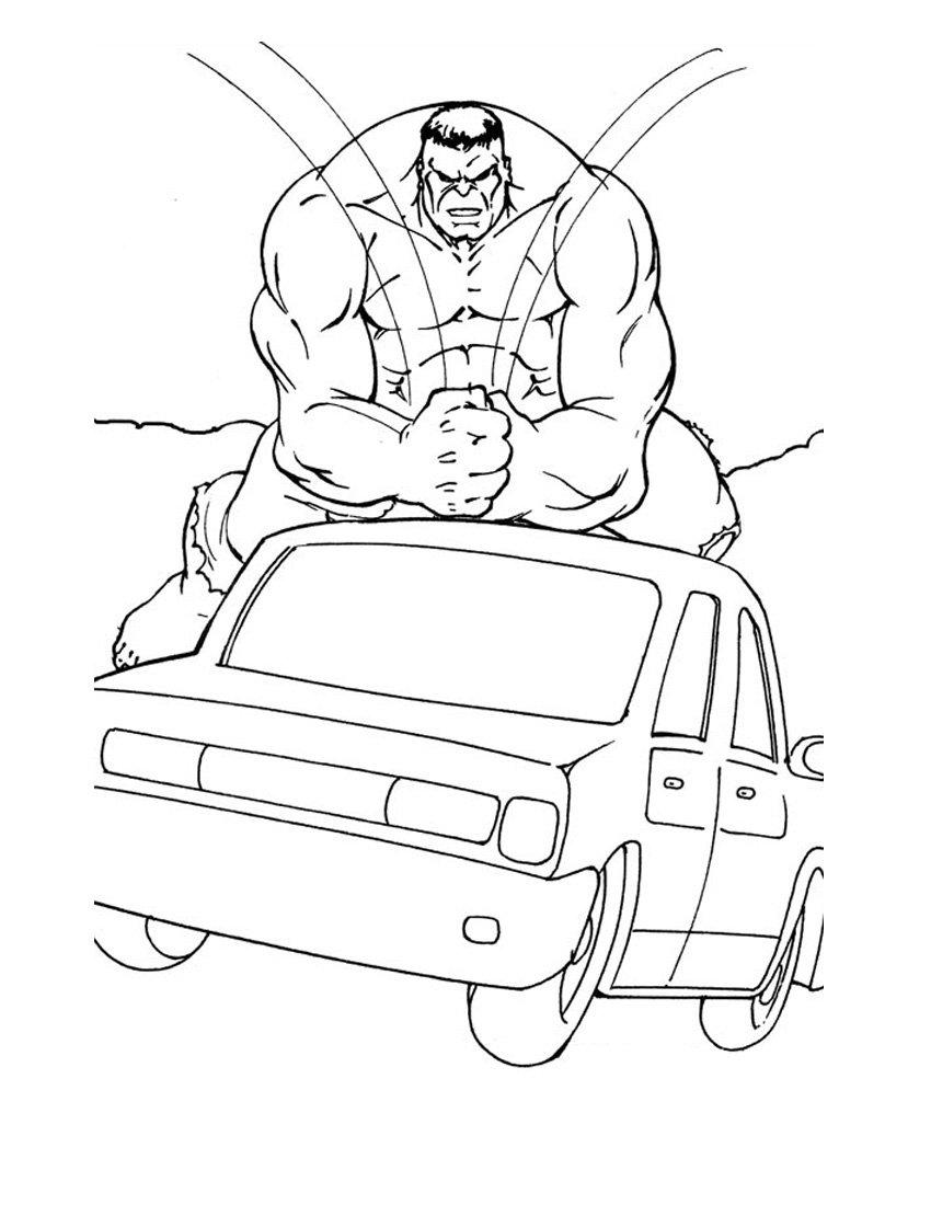 Desenho De Máscara Do Hulk Para Colorir