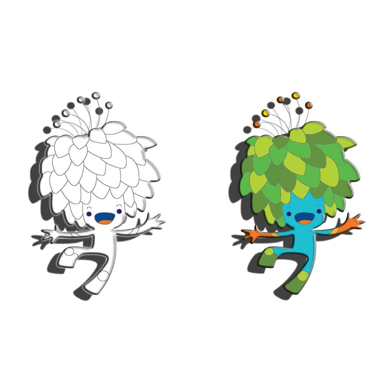 Desenho De Mascotes Dos Jogos Olímpicos Rio 2016 Para Colorir