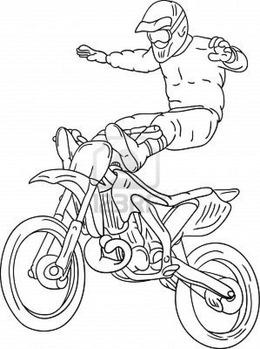 Desenho De Motocross Para Imprimir