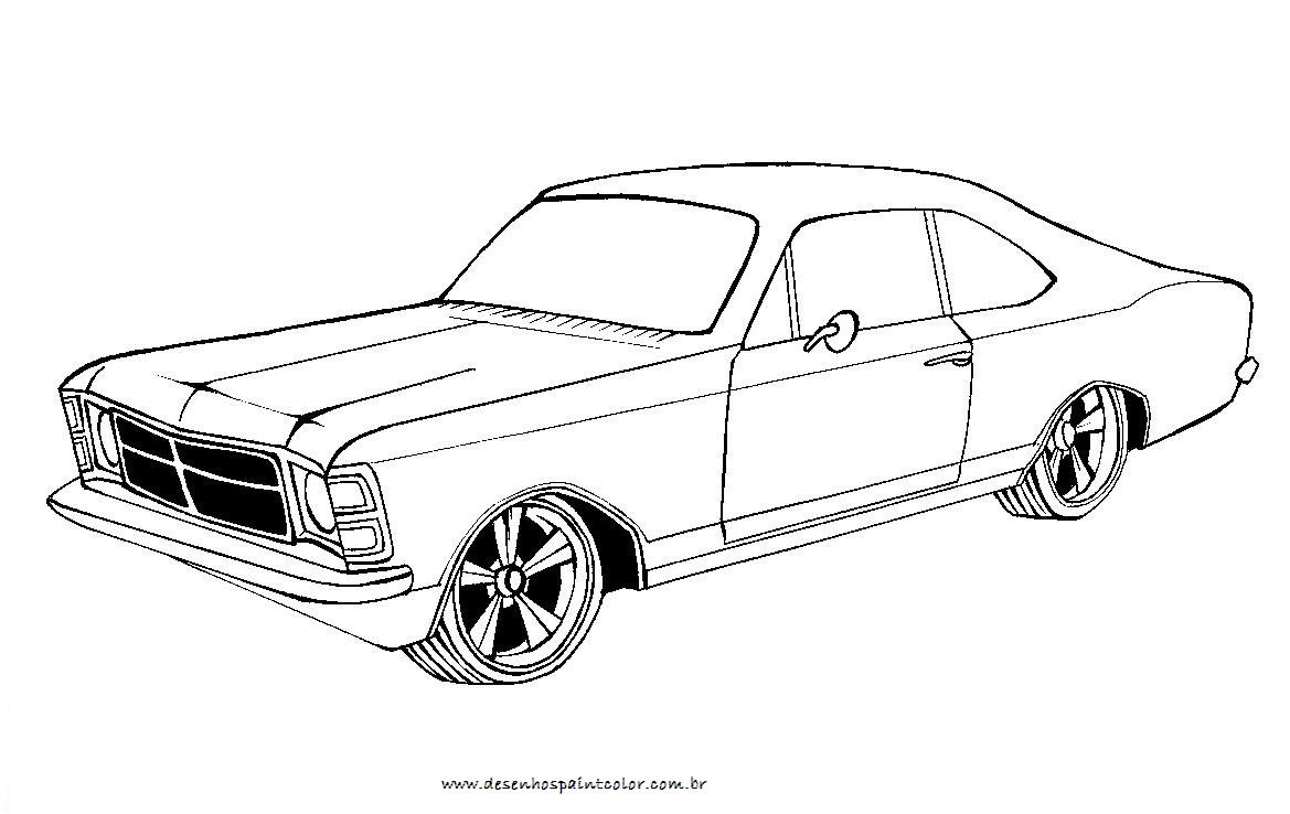 Desenho De Opala , Desenho De Opala Tunado Para Colorir , Carros