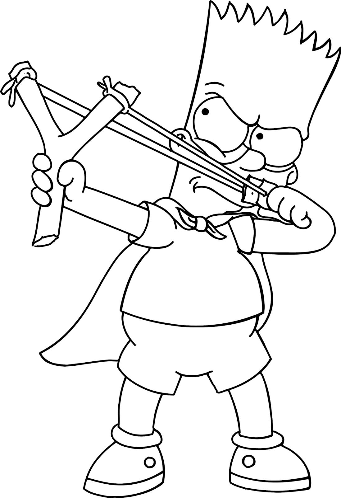 Desenho De Peixe Do Bart Simpson Para Colorir