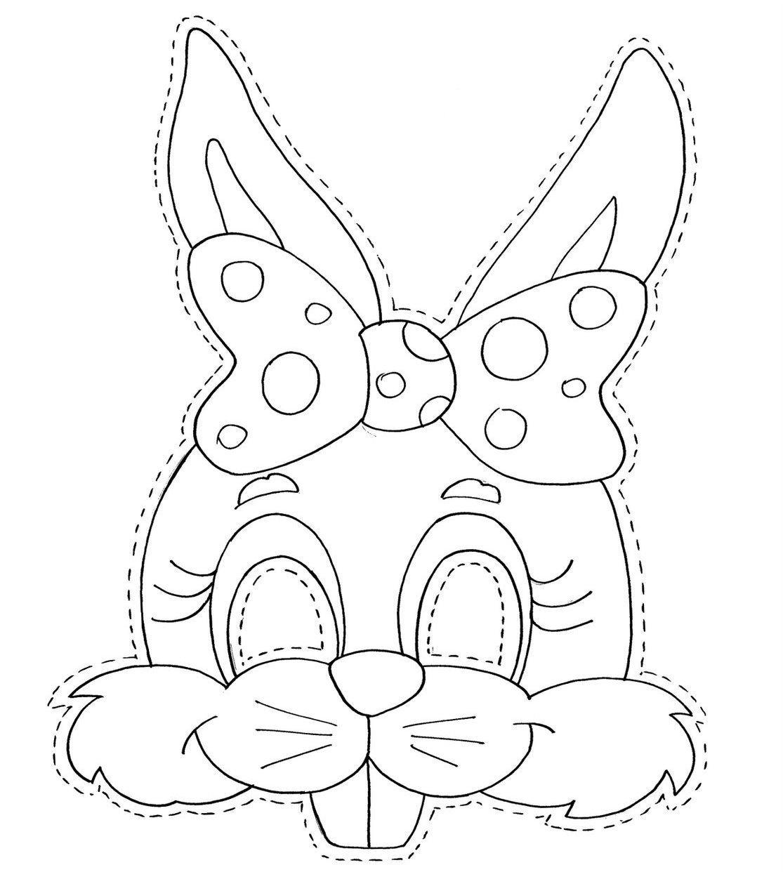 Desenho De Rostos De Coelhinhos Da Páscoa Para Colorir