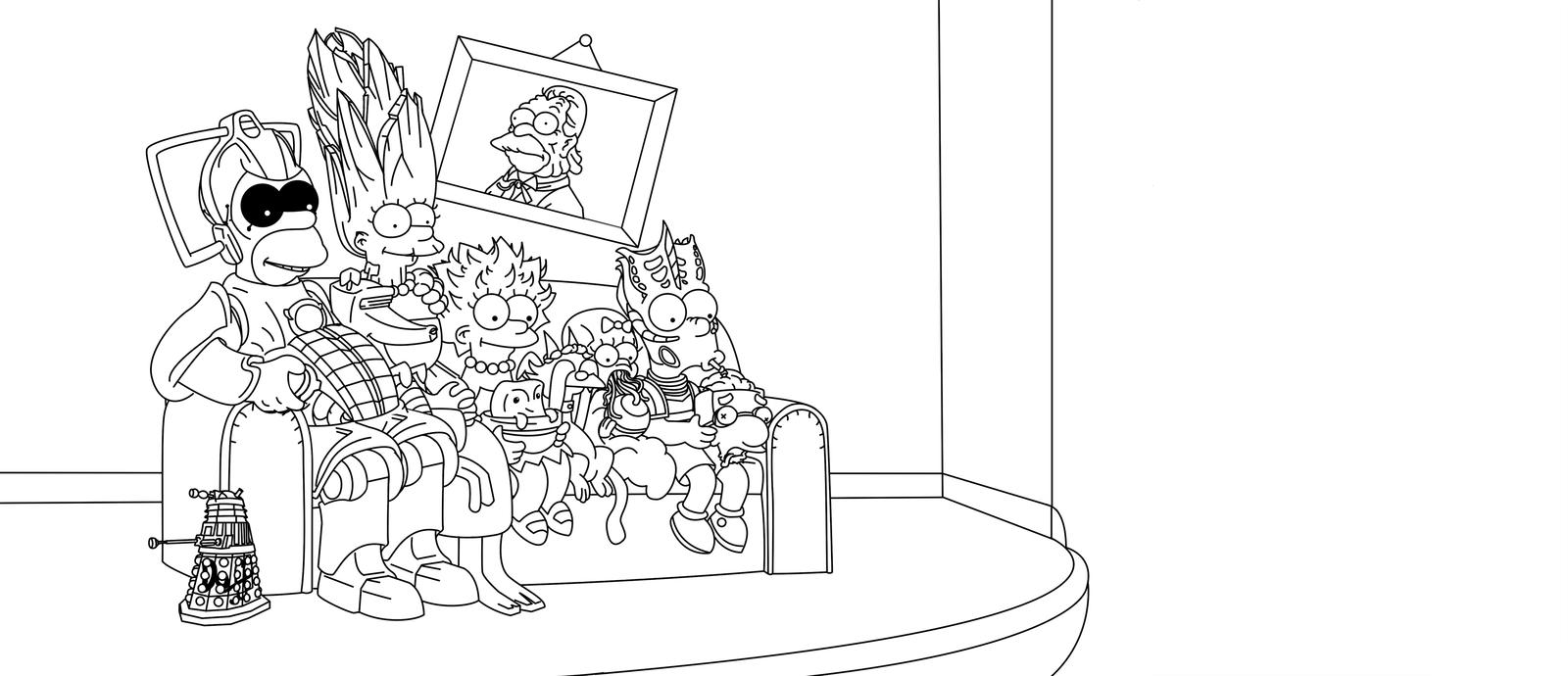Desenho De Simpsons Em Doctor Who Para Colorir
