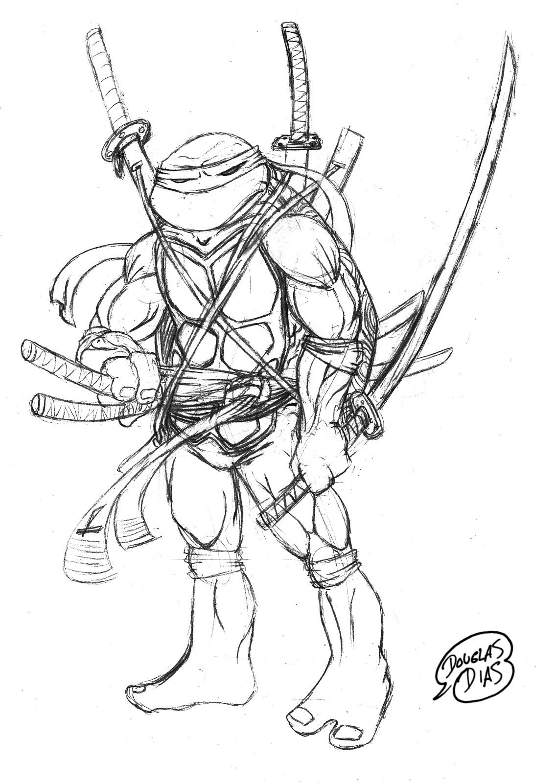 Desenho De Tartarugas Ninja Para Colorir Free Coloring Pages