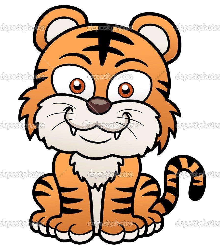 Desenho De Tigre — Vetor De Stock © Sararoom  29737509