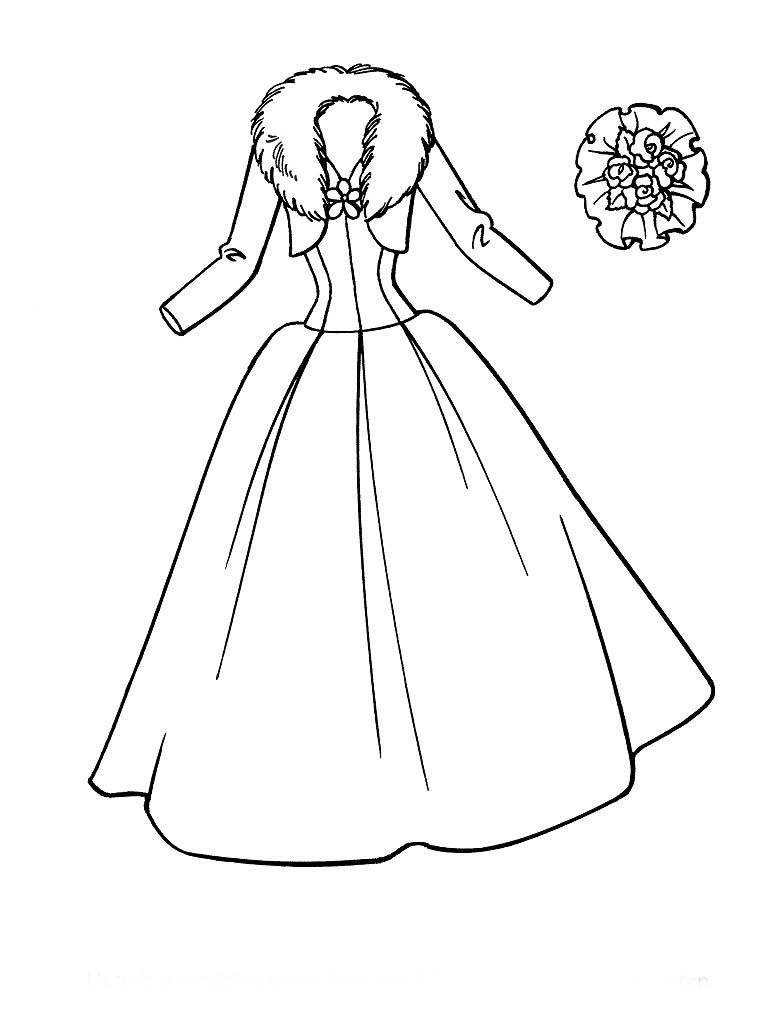 Desenho De Vestido Da Barbie Para Colorir