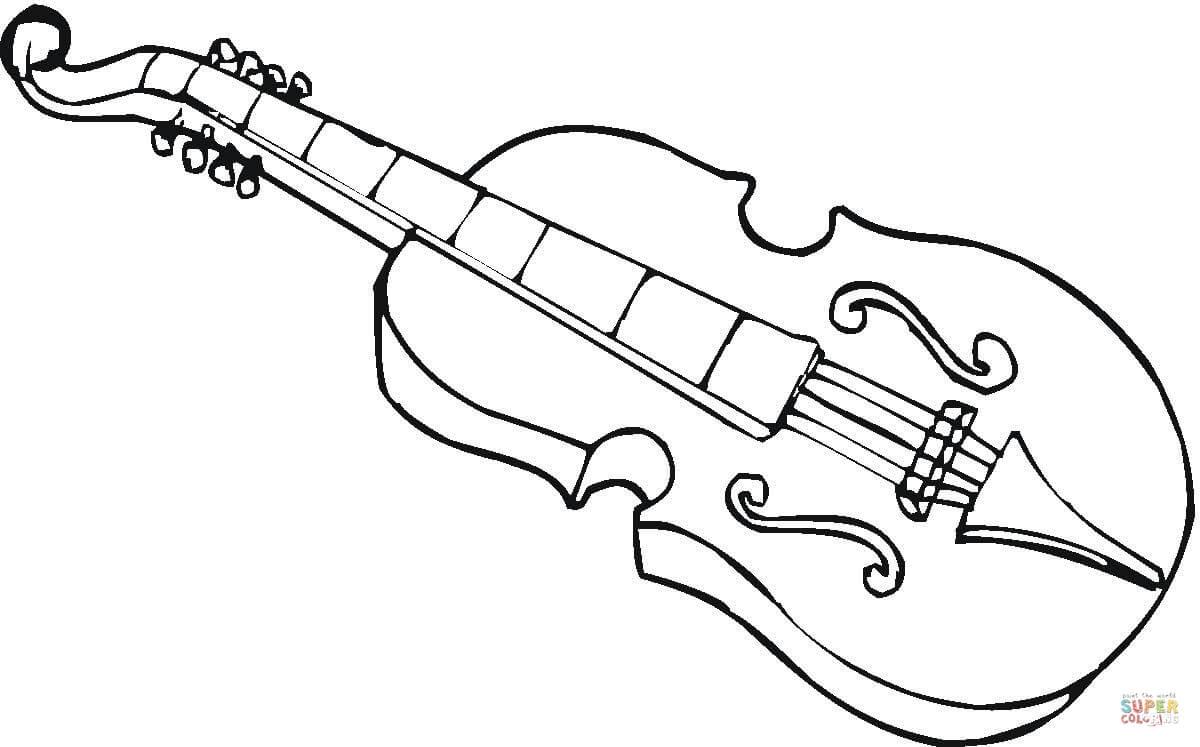 Desenho De Viola Para Colorir