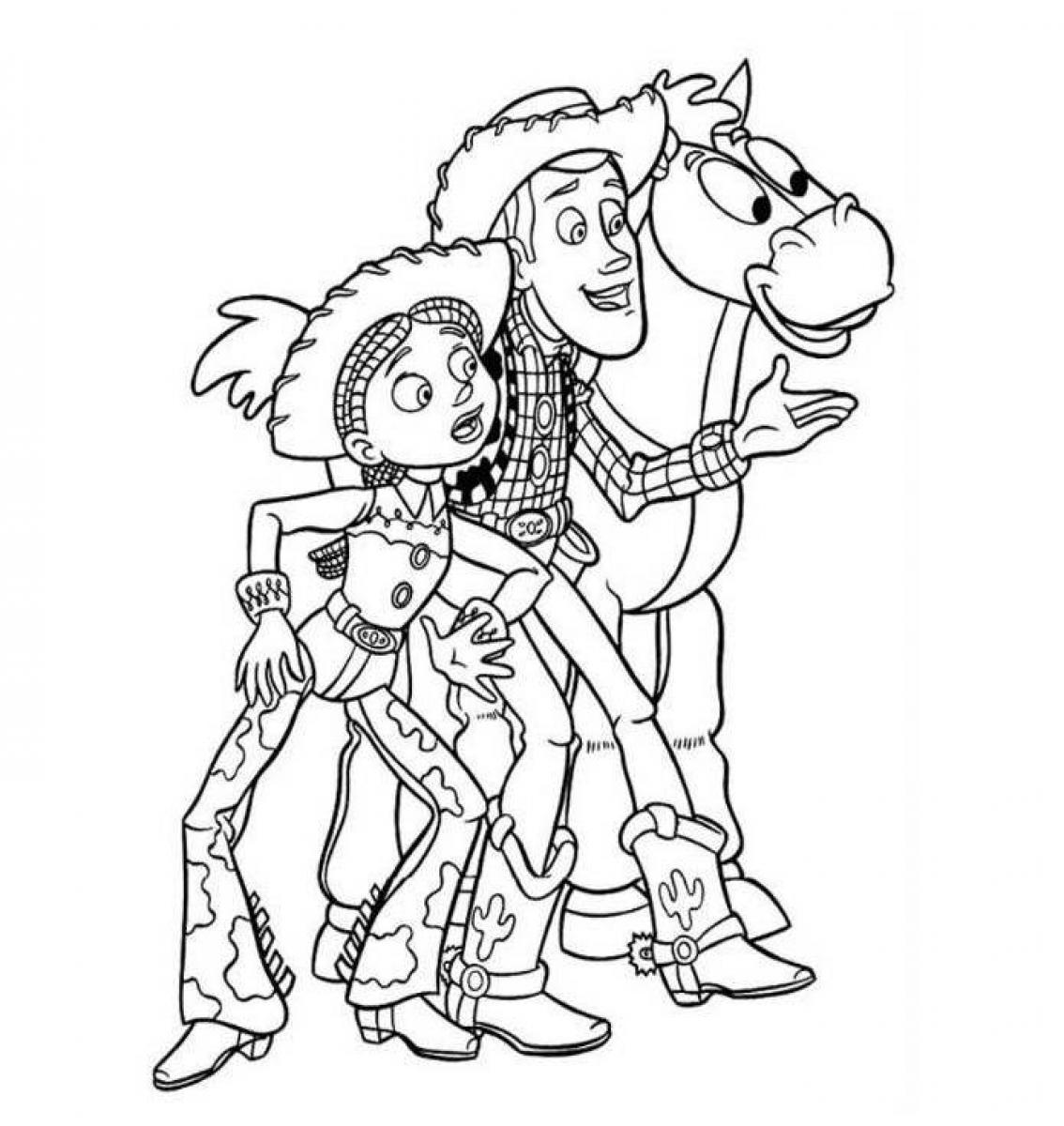 toy story woody coloring pages - desenhos do toy story para colorir